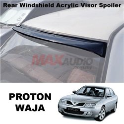 [1 Unit Left !!] PROTON WAJA Anti UV Smoke Black Rear Roof Window Windshield Acrylic Visor Spoiler