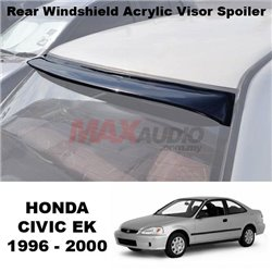 [1 Unit Left !!] HONDA CIVIC EK 1996 - 2000 Anti UV Smoke Black Rear Roof Window Windshield Acrylic Visor Spoiler