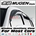 (MOST CARS) Mugen Style Premium Quality Smoke Black Rain Guard Acrylic Door Window Ventilate Visor (S1)
