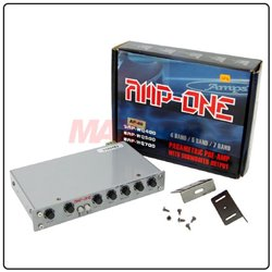 AMP-ONE 4-Band Pre-amplifier Parametric Equalizer with subwoofer output and CD/AUX Selector Switch [AP-40]
