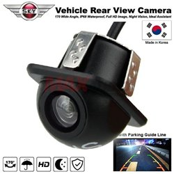 SKY 170 Degree CCD Color Full HD Waterproof Night Vision Car Reverse Parking Rear View Camera with Parking Guide Line