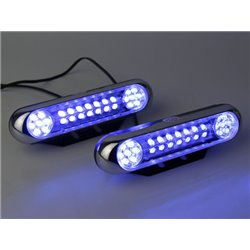 YCL 12V/24V 28 LED Super Bright Daytime Running Light (Blue) (YCL-647)