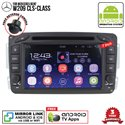"""MERCEDES BENZ W209 CLS-CLASS SKY NAVI 7"""" FULL ANDROID Double Din GPS DVD CD USB SD BLUETOOTH IOS Mirror Link Player"""