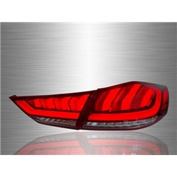 HYUNDAI ELANTRA MD 2010 - 2015 Red Clear Lens LED Light Bar Tail Lamp with Sequential Signal [TL-299]