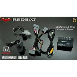 HONDA CITY GM6 2014 - 2018 V-Spec REDBAT Plug & Play Front & Rear Camera In Socket with TV Free [RB-686]