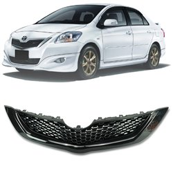 TOYOTA VIOS 2nd Gen 2007 - 2012 ABS RS Front Grille with RS Logo Emblem (Black Piano Color)