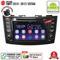 "SUZUKI SWIFT 2013 - 2017/ ERTIGA SKY NAVI 7"" FULL ANDROID Double Din GPS DVD CD USB SD BLUETOOTH IOS Mirror Link Player"