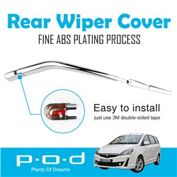 PROTON EXORA P.O.D Rear Window Wiper Chrome Cover Trim Fine ABS Plating [PO-268]