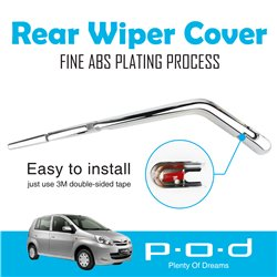PERODUA VIVA P.O.D Rear Window Wiper Chrome Cover Trim Fine ABS Plating [PO-268]