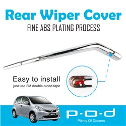 PERODUA MYVI P.O.D Rear Window Wiper Chrome Cover Trim Fine ABS Plating [PO-268]