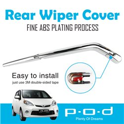 PERODUA ALZA P.O.D Rear Window Wiper Chrome Cover Trim Fine ABS Plating [PO-268]