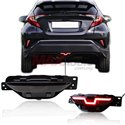 TOYOTA CHR C-HR 2016 - 2018 Rear Bumper Center Reflector LED Brake Light with Reverse Light (Smoke Lens Cover)