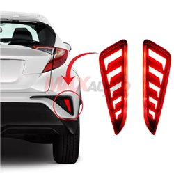 TOYOTA CHR C-HR 2016 - 2018 Rear Bumper Reflector LED Warning Brake Light (JDM Style)