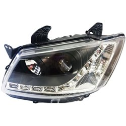 PROTON SAGA BLM, SE LED Starline Daytime Running Light Projector Head Lamp (Black Housing)