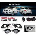 NISSAN ALMERA N17 2014 - 2018 Plug and Play OEM Fog Lamp Sport Light with Chrome Line Trim ABS Cover