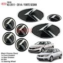 ORIGINAL KIA FORTE Sedan, OPTIMA K5 2011 - 2014 7 Pcs 3D K-Logo Emblem Badge Made in Korea