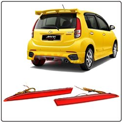 PERODUA MYVI LAGI BEST 2011 - 2014 Red Lens Rear Bumper Reflector Warning Brake LED Light (YCL-392)