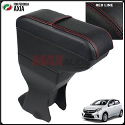 PERODUA AXIA/ DAIHATSU AYLA/ TOYOTA AGYA, WIGO Leather PU Black Arm Rest [AL]