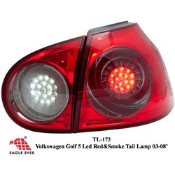 VOLKSWAGEN GOLF TSI/GTI MK5 2003 - 2008 EAGLE EYES Red SmokeLens LED Tail Lamp [TL-172]