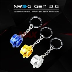 NRG Innovations Gen 2.5 Steering Wheel Quick Release Zinc Alloy Fashion Styling Keychain Keyring