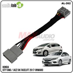 HONDA CITY GM6 / JAZZ GK Facelift 2017 - 2018 AUDIOLAB Bypass Cable Video In Motion TV Free Plug and Play Socket Cable [AL-262]