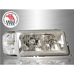 MERCEDES BENZ W201 C-Class 1982 - 1993 EAGLE EYES Chrome Housing Crystal Head Lamp with Corner Lamp [HL-021-BENZ]