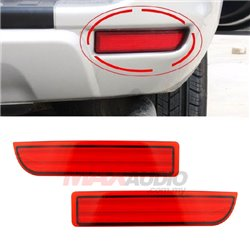 TOYOTA ALPHARD 2002, WISH 2009, ESTIMA 2006, RAV4 2005 Red Lens Rear Bumper Safety Reflector LED Light (YCL-372-RED)