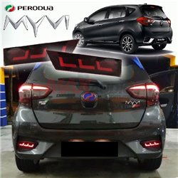 PERODUA MYVI 2018 Night Rider Sportivo Sequential Blinking Rear Bumper Reflector LED Light with Turn Signal
