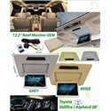 """TOYOTA ALPHARD VELLFIRE ANH20 2008 - 2014 AUDIOLAB 12.2"""" Full HD OEM Roof Monitor (Gray/Beige Color)"""
