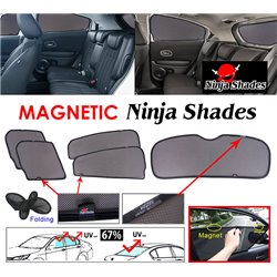 (MOST CARS) NINJA SHADES UV Proof Custom Fit Car Vehicle Door Window Magnetic Sun Shades