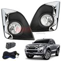 ISUZU D-MAX HI-Lander 4x4 V-Cross 2015 - 2018 SAXO Fog Lamp Spot Light Kit with Chrome Cover Made in Korea [IZ-933]