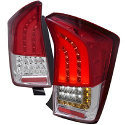 TOYOTA PRIUS XW30 2009 - 2014 Red Clear Lens LED Light Bar Tail Lamp