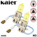 KAIER Max Power Series H3 3000K Rally Yellow Schott Glass Halogen Bulb Lamp Light Korea Techonology (Pair)