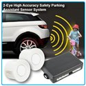 Universal 2-Eye High Accuracy Safety Reverse Parking Assistant Sensor System with Buzzer Siren Sound (White)