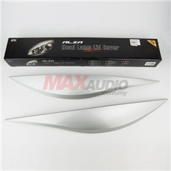 PERODUA ALZA Head Lamp Light Sporty Eye Lid Cover with Paint (Glittering Silver)