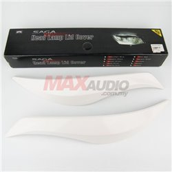 PROTON SAGA BLM SE Head Lamp Light Sporty Eye Lid Cover with Paint (Solid White)