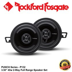 "ORIGINAL ROCKFORD FOSGATE USA PUNCH SERIES P132 40W 3.5"" 2-WAY FULL RANGE SPEAKER SYSTEM SET"