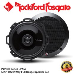 "ORIGINAL ROCKFORD FOSGATE USA PUNCH SERIES P152 80W 5.25"" 2-WAY FULL RANGE SPEAKER SYSTEM SET"
