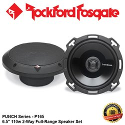 "ORIGINAL ROCKFORD FOSGATE USA PUNCH SERIES P165 110W 6.5"" 2-WAY FULL RANGE SPEAKER SYSTEM SET"