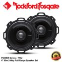 "ORIGINAL ROCKFORD FOSGATE USA POWER SERIES T142 80W 4"" 2-WAY FULL RANGE COAXIAL SPEAKER SYSTEM SET"