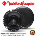 "ORIGINAL ROCKFORD FOSGATE USA POWER SERIES T1650 150W 6.5"" 2-WAY FULL RANGE EURO FIT COMPATIBLE COAXIAL SPEAKER SYSTEM SET"