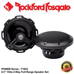 "ORIGINAL ROCKFORD FOSGATE USA POWER SERIES T1652 150W 6.5"" 2-WAY FULL RANGE COAXIAL SPEAKER SYSTEM SET"