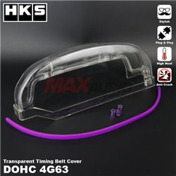 MITSUBISHI EVO 1 2 3 4G63 DOHC HKS HKS Anti Crack High Heat Plug And Play Transparent Timing Belt Cover