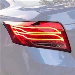 TOYOTA VIOS 2013 - 2018 E-Class Style Red Clear Lens LED Light Bar Tail Lamp