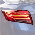 TOYOTA VIOS 2013 - 2018 E-Class Style Red Smoke Lens LED Light Bar Tail Lamp with Sequential Signal (Pair)
