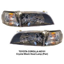 TOYOTA COROLLA AE101 1994 - 1999 Crystal Black Head Lamp (Pair)