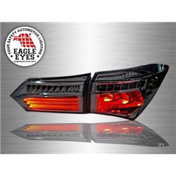TOYOTA COROLLA ALTIS E170 2013 - 2018 EAGLE EYES LED Light Bar Rear Tail Lamp with Sequential Turn Signal (Full Smoke Lens)