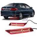 HONDA CITY GM6 Facelit 2017 - 2018 Rear Bumper Reflector LED Warning Brake Light