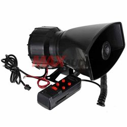 Police/ Ambulance/ Fire Alarm/ Emergency 100W 5 Tone Sound Car Vehicle Siren Horn with Microphone PA Speaker System