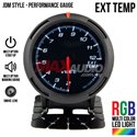 "JDM Style Exhaust Temperature 2.5"" RGB Multi-color LED Smoke Lens Racing Performance Gauge Meter"